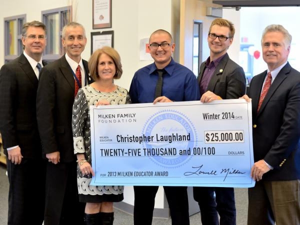 Christopher Laughland with Milken Educators
