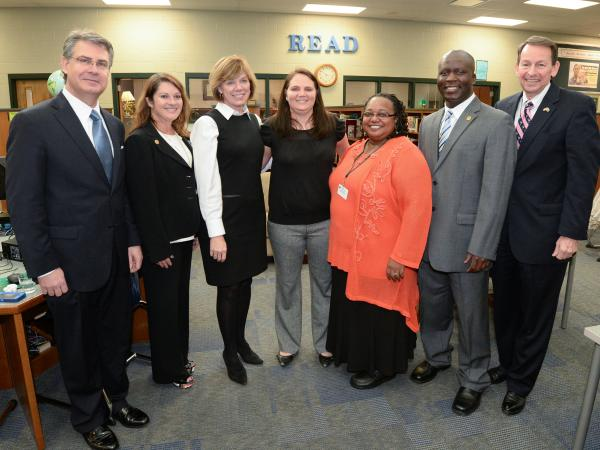 Kristi Grooms with Milken Educators and VIPs