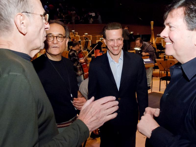 Leonard Nimoy Joins Lowell Milken at Disney Concert Hall