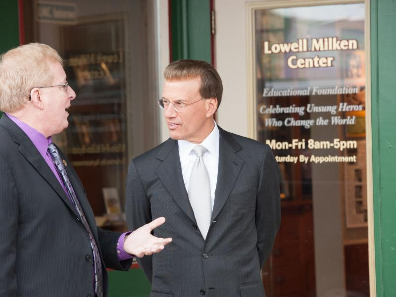 Norm Conard Welcomes Lowell Milken to LMC