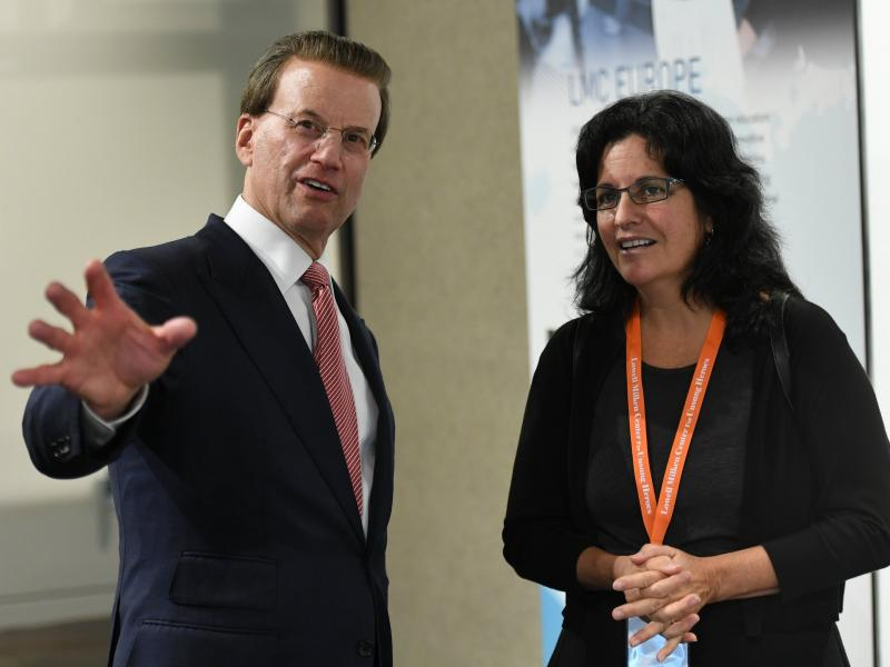 Lowell Milken with Therese Frare