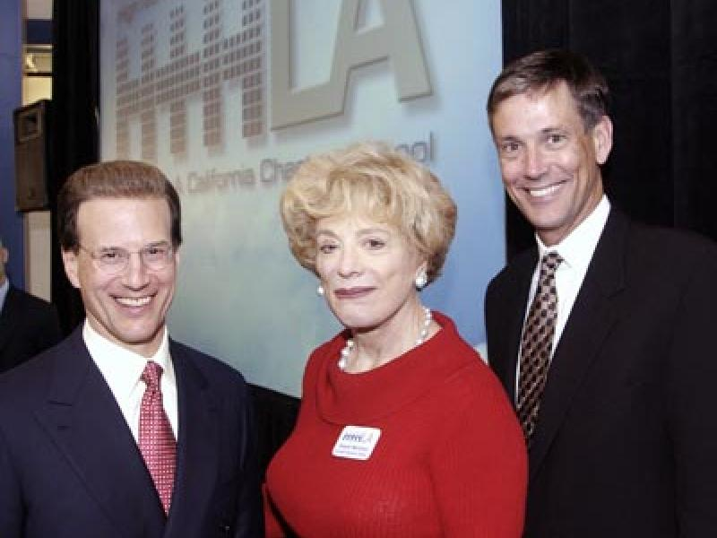 Dignitaries Join Lowell Milken at School Dedication