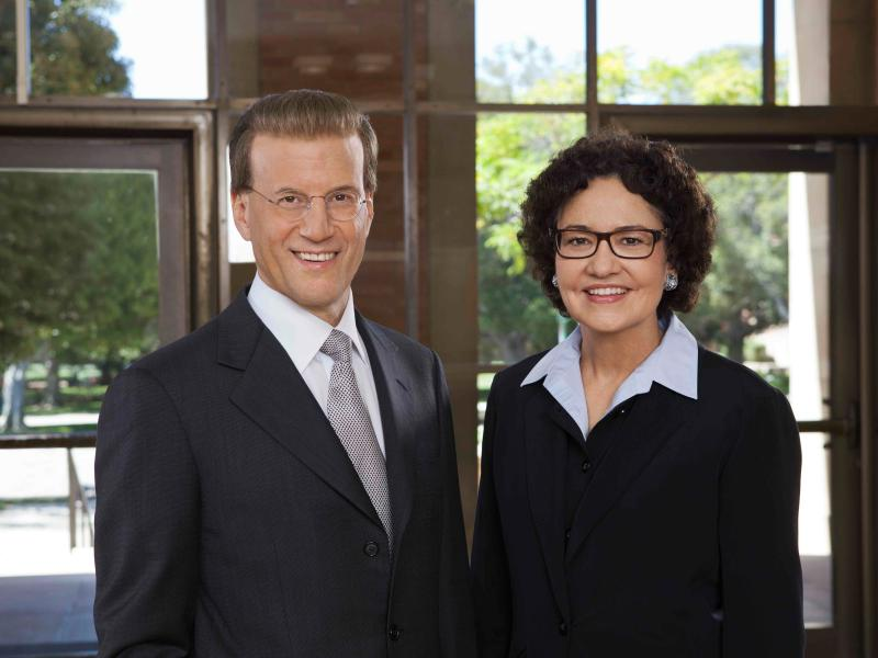 Lowell Milken and UCLA Dean Rachel Moran