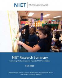 niet research summary fall 2020 cover