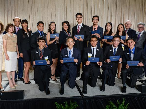 2014 LA Milken Scholars with Milken Scholars and Milken Family Foundation Directors
