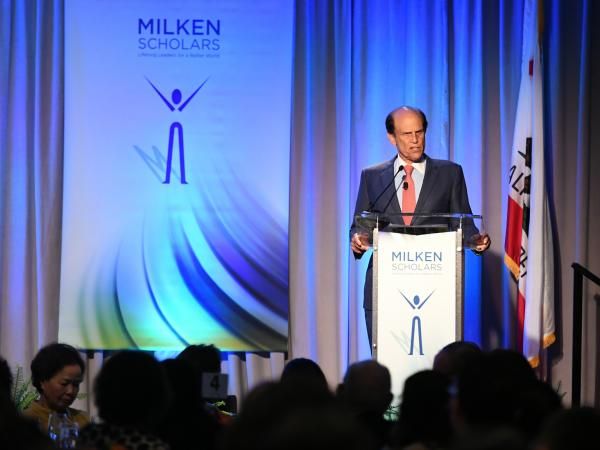 2018 Scholars Mike Milken speaking