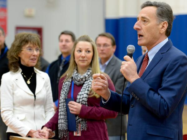 Katie Sedore with Governor Shumlin