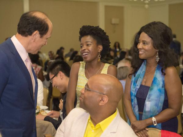 Mike Milken Amanda Gorman and family