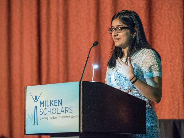 Namra Zulfiqar speech 2017 New York Milken Scholars dinner