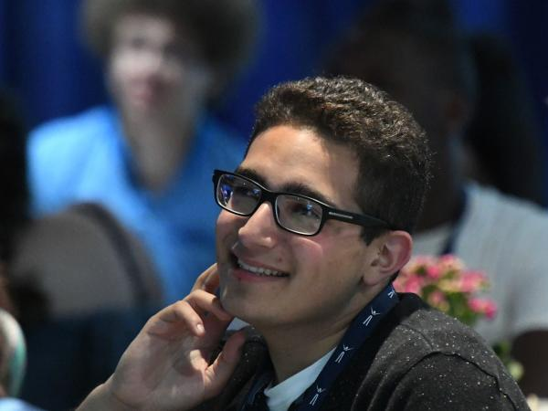 Jupiter El-Asmar at 2017 Milken Scholars Summit