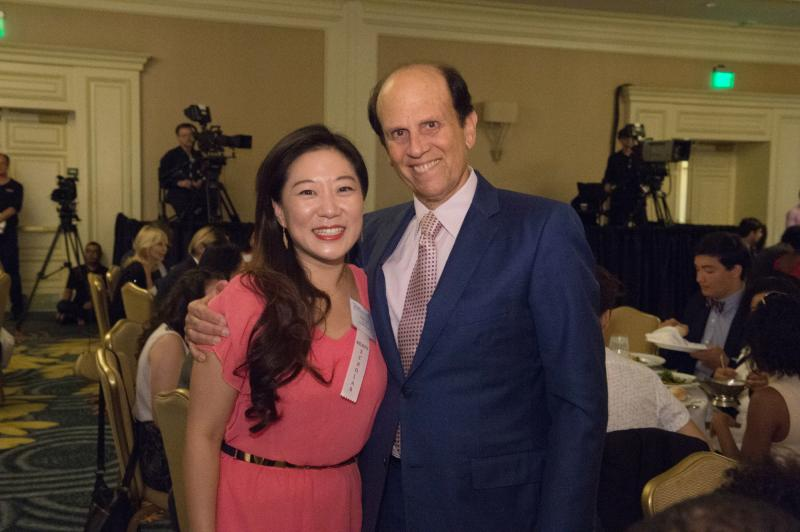 Mike Milken with Clara Park