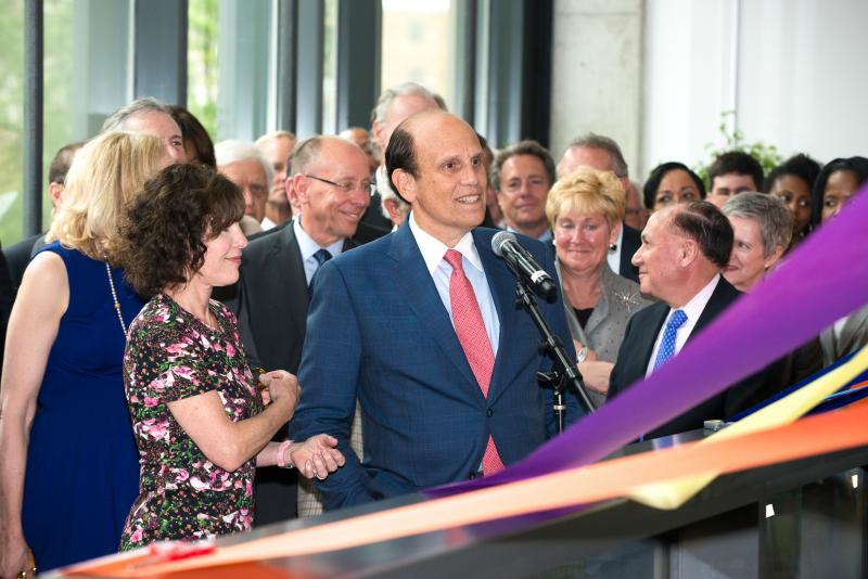 Milken Institute of Public Health ribbon cutting - Mike Milken speaks