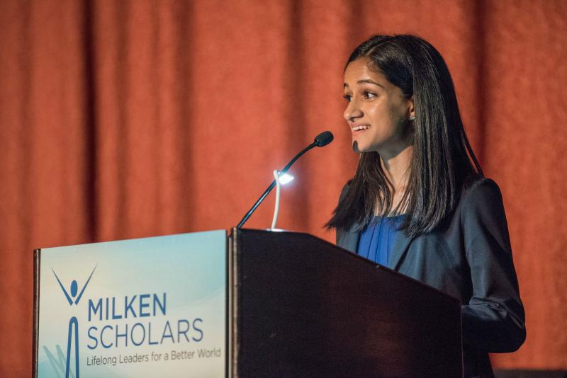 Noreen Mohsin speech 2017 New York Milken Scholars dinner